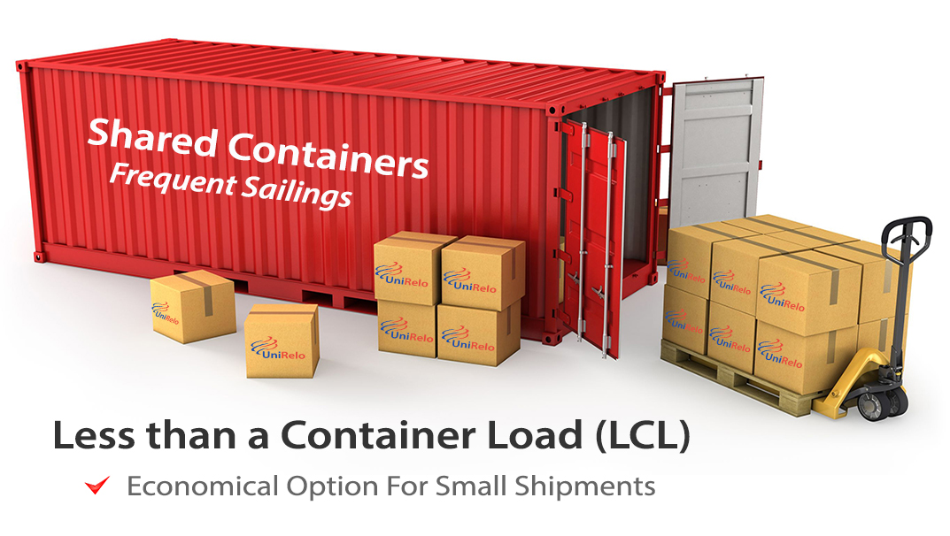 LCL Shipping to India.